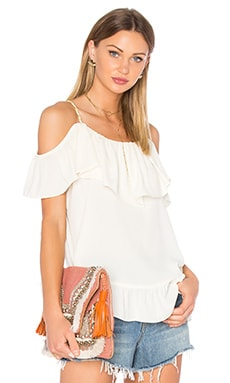 Nala Ruffle Top in White
