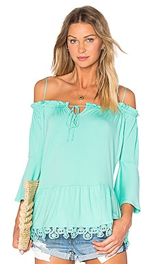 Bambi Bell Sleeve Top en Mint