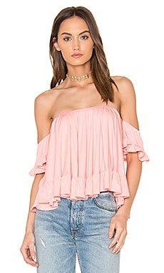 Evelyn Top in Light Coral