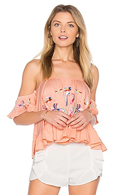 Anthea Top in Peach