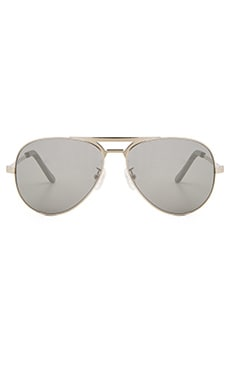 VALLEY EYEWEAR Manubrium in Silver Frame & Silver Mirror