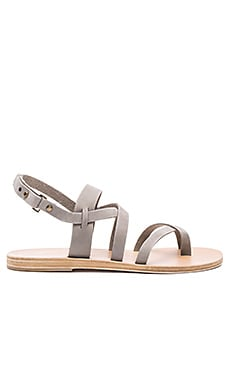 Valia Gabriel Juno Sandal in Light Grey Nubuck