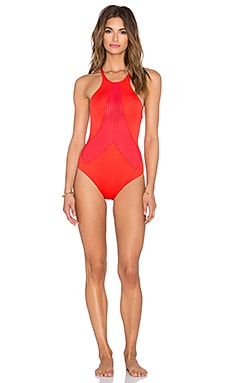 vitamin A Rayna Swimsuit in Vermillion Perf Perfection