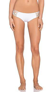 vitamin A Amber Boyshort Bikini Bottom in Eco White