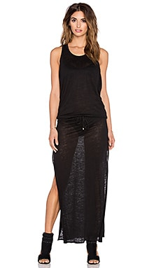 vitamin A Island Maxi Dress in Honeycomb Mesh Black