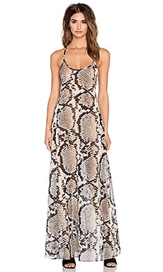 vitamin A Flute Maxi Dress in Mile High Woven
