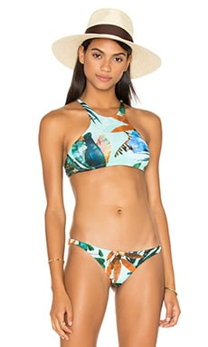 Cozumel High Neck Bikini Top in Atlantis