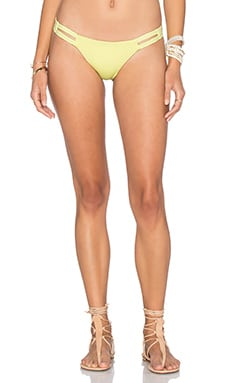 vitamin A Neutra Hipster Bikini Bottom in Lemon Drop