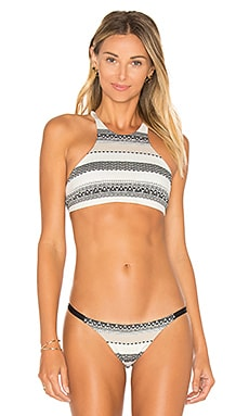 Cozumel High Neck Top in Stripe