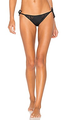 Riley Tie Side Bikini Bottom in Symmetry Mesh