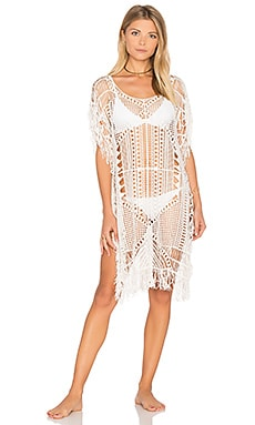 Magic Hour Macrame Tunic en Blanc