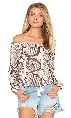 Marabella Cropped Peasant Top