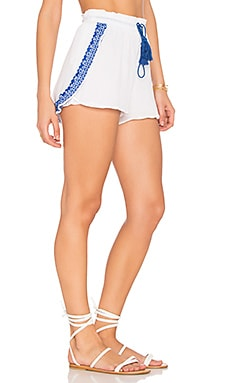 Capri Petal Shorts in Trade Winds