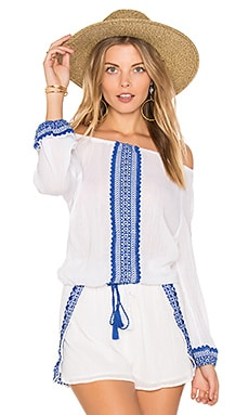 Capri Peasant Top in Trade Winds