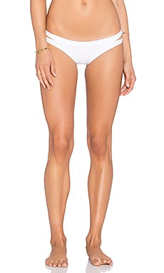 vitamin A Sasha Hipster Bikini Bottom in White Perf Perfection
