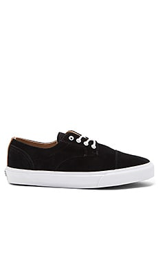 Vans California Dillon Pig Suede in Black White