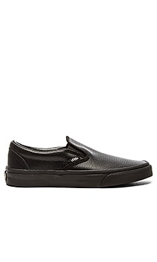 Vans Classic Slip-On Perforated Leather in Black Black