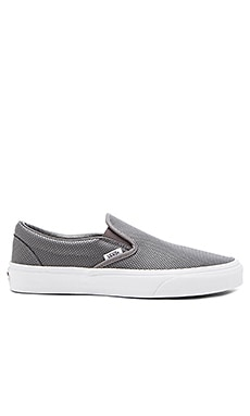 Vans Classic Slip-On Perforated Leather in Smoked Pearl