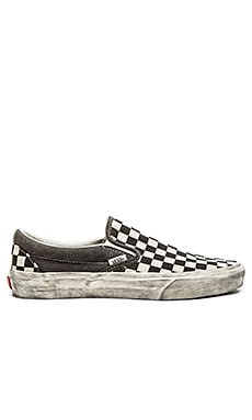Vans Classic Slip On Over washed in Black Check
