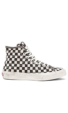 Vans SK8 Hi Decon Overwashed in Black Check