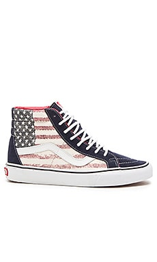 Vans SK8 Hi Reissue Americana in Dress Blues