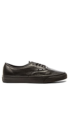 Vans Authentic Decon Premium Leather in Black Black
