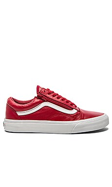 Vans Old Skool Zip Premium Leather in Chili Pepper