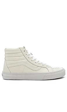 Vans SK8 Hi Reissue Premium Leather in True White