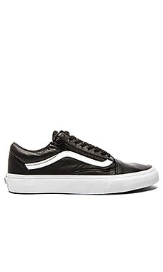 Vans Old Skool Zip Premium Leather in Black