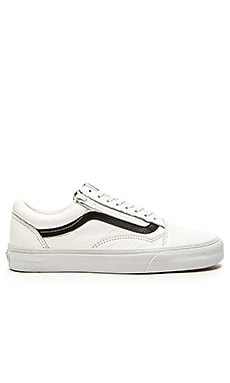 Vans Old Skool Zip Premium Leather in True White