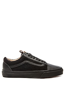 Vans California Old Skool Reissue Leather & Wool in Black Black