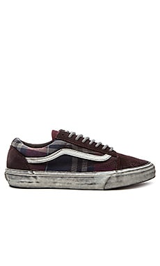 Vans California Old Skool Reissue Over Washed Plaid in Port Royale Blanc de Blanc