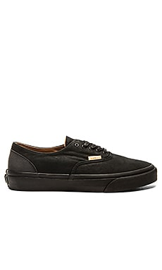 Vans California Era Decon Mono Leather in Black Rubber
