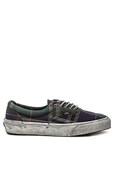 Vans California Era Over Washed Plaid in Nine Iron Blanc de Blanc