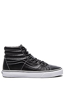 Vans SK8 Hi Reissue Leather Plaid in Black
