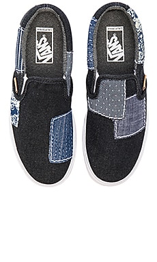 Vans California Denim Boro Slip On in Blue Truewhite