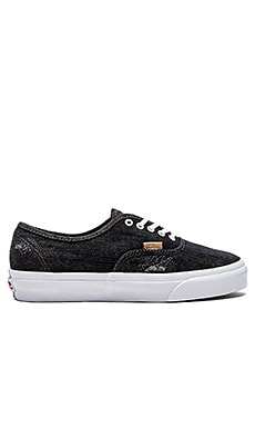 Vans California Denim Stitch Authentic en Noir Blanc