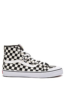 Vans Black Ball Hi SF Checkerboard in Black & White