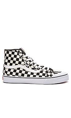 Vans Black Ball Hi SF Checkerboard in Black & White
