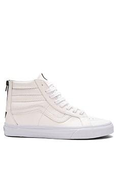 Vans SK8-Hi Reissue Zip Premium Leather in True White & Black