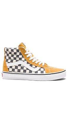 SK8-Hi Reissue Checkerboard en Spruce Yellow & Navy