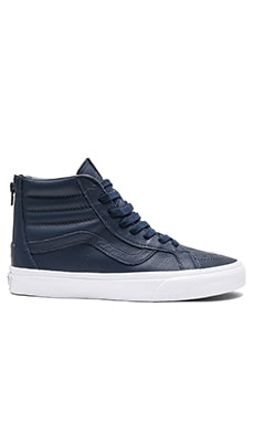 Vans SK8-Hi Reissue Zip Premium Leather in Dress Blues & True White