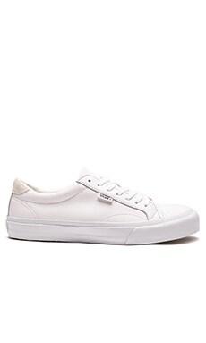 Vans + Court Leather en Blanc Pur