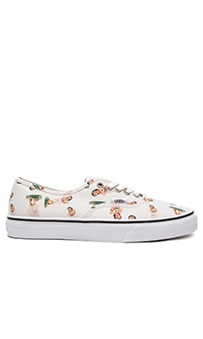 Vans Authentic Digi Hula in Classic White & True White