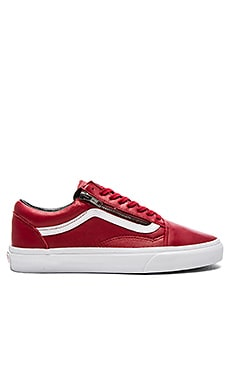 Vans Old Skool Zip in Chili Pepper & True White