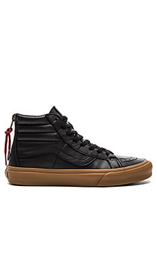 Vans SK8 Hi Reissue Zip in Black & Gum