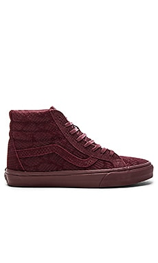 Vans SK8 Hi Reissue DX Reptile in Burgundy