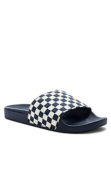 Checkerboard Slide-On Vans $24