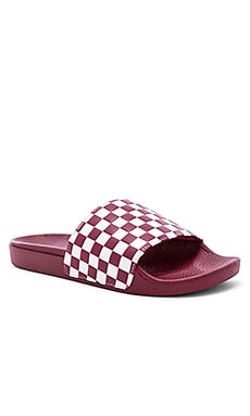 Checkerboard Slides Vans $14