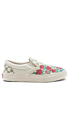 Slip-On Rose Embroidery